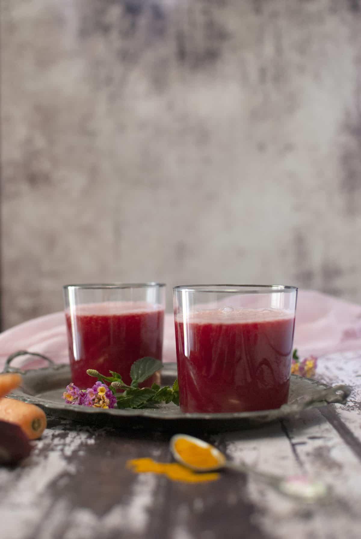 smoothie, χυμός παντζάρι