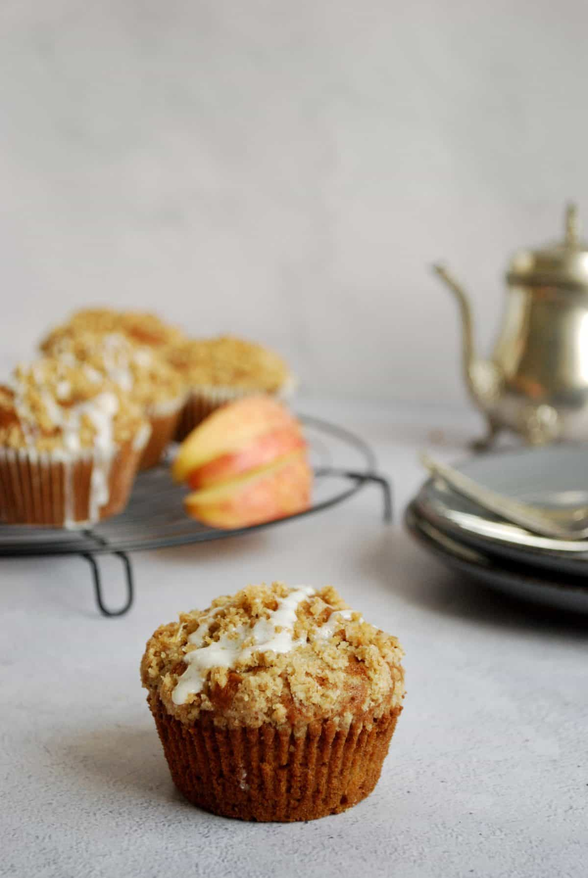apple muffins, μάφινς με μήλο και κανέλα