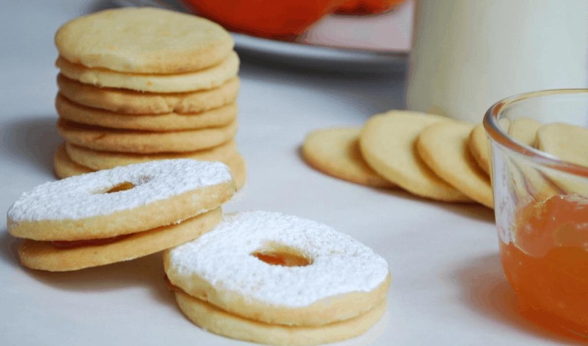 μπισκότα βουτύρου, shortbread cookies