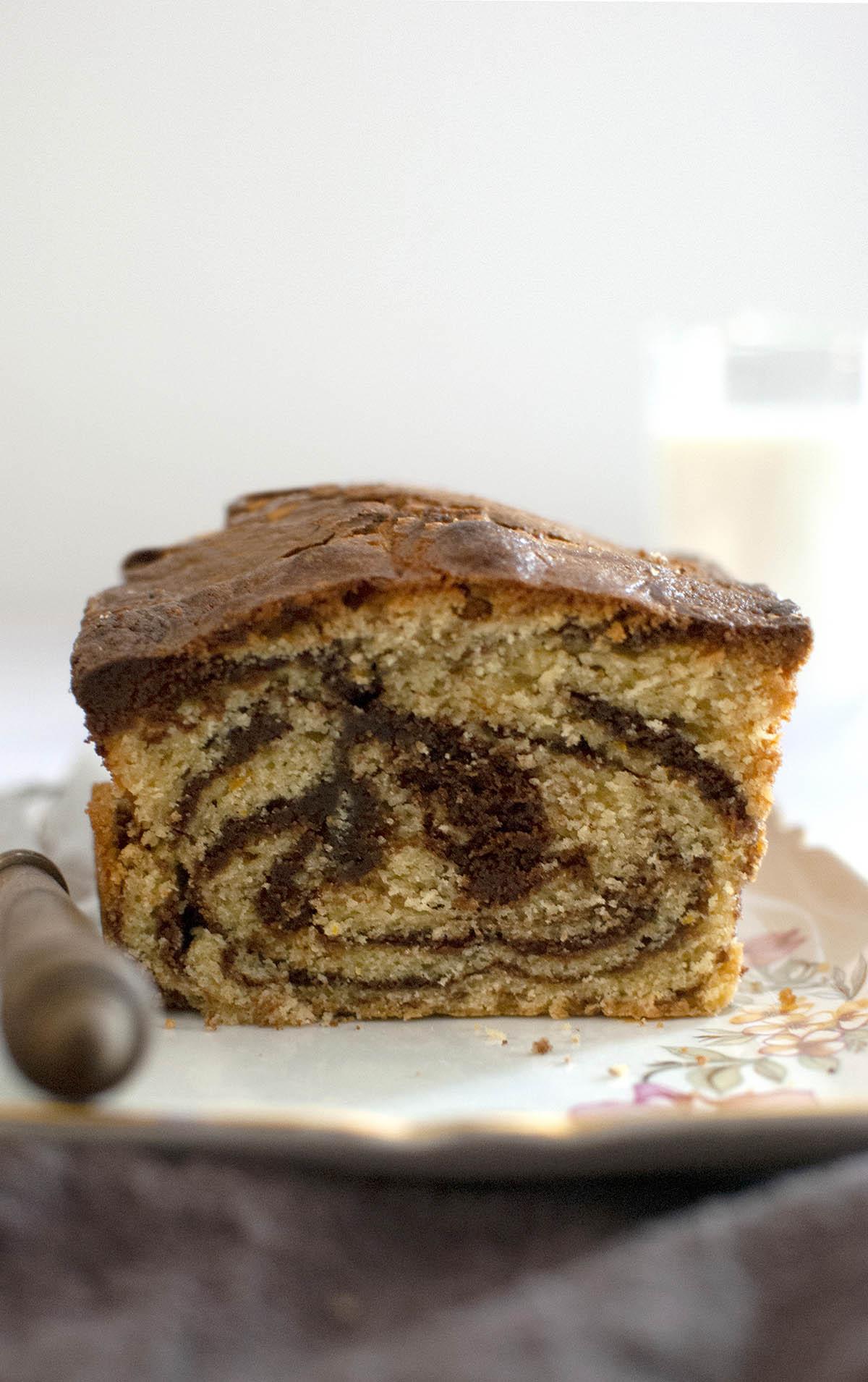 Δίχρωμο κέικ (marble cake)