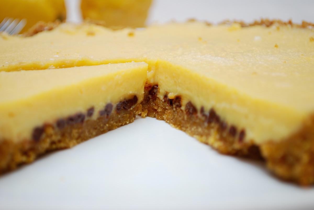 τάρτα λεμονιού με σοκολάτα
