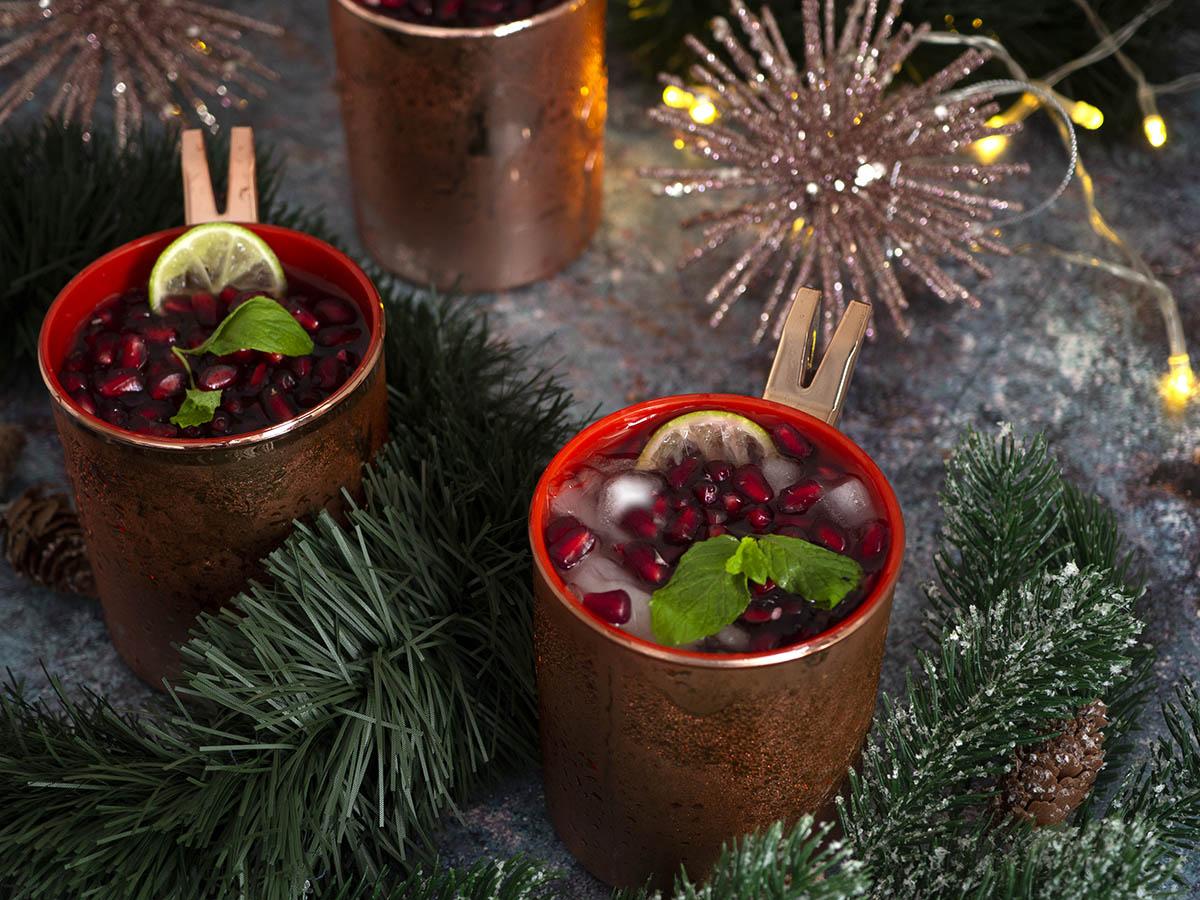 μοχίτο με ρόδι, pomegranate mojito