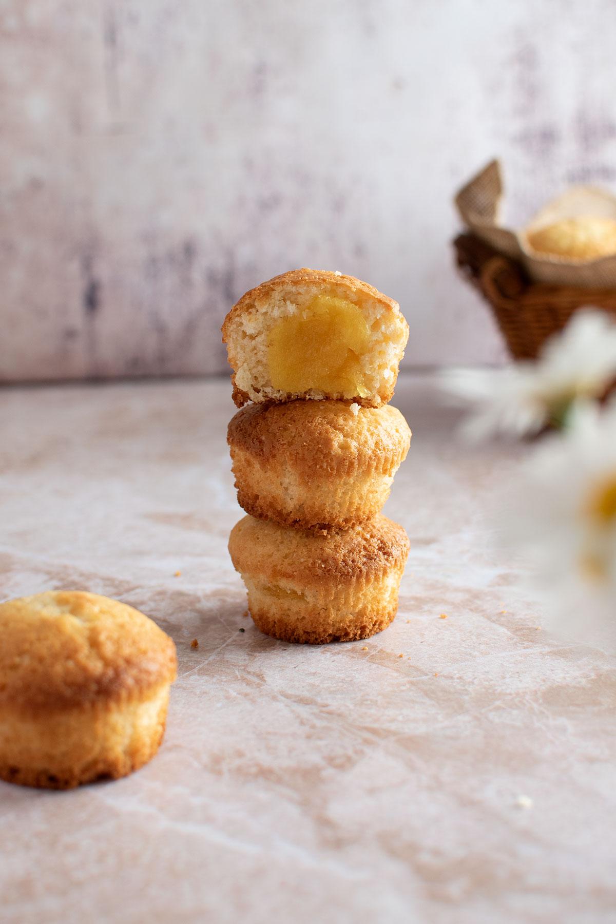 βασική συνταγή για muffins χωρίς μίξερ με μαρμελάδα
