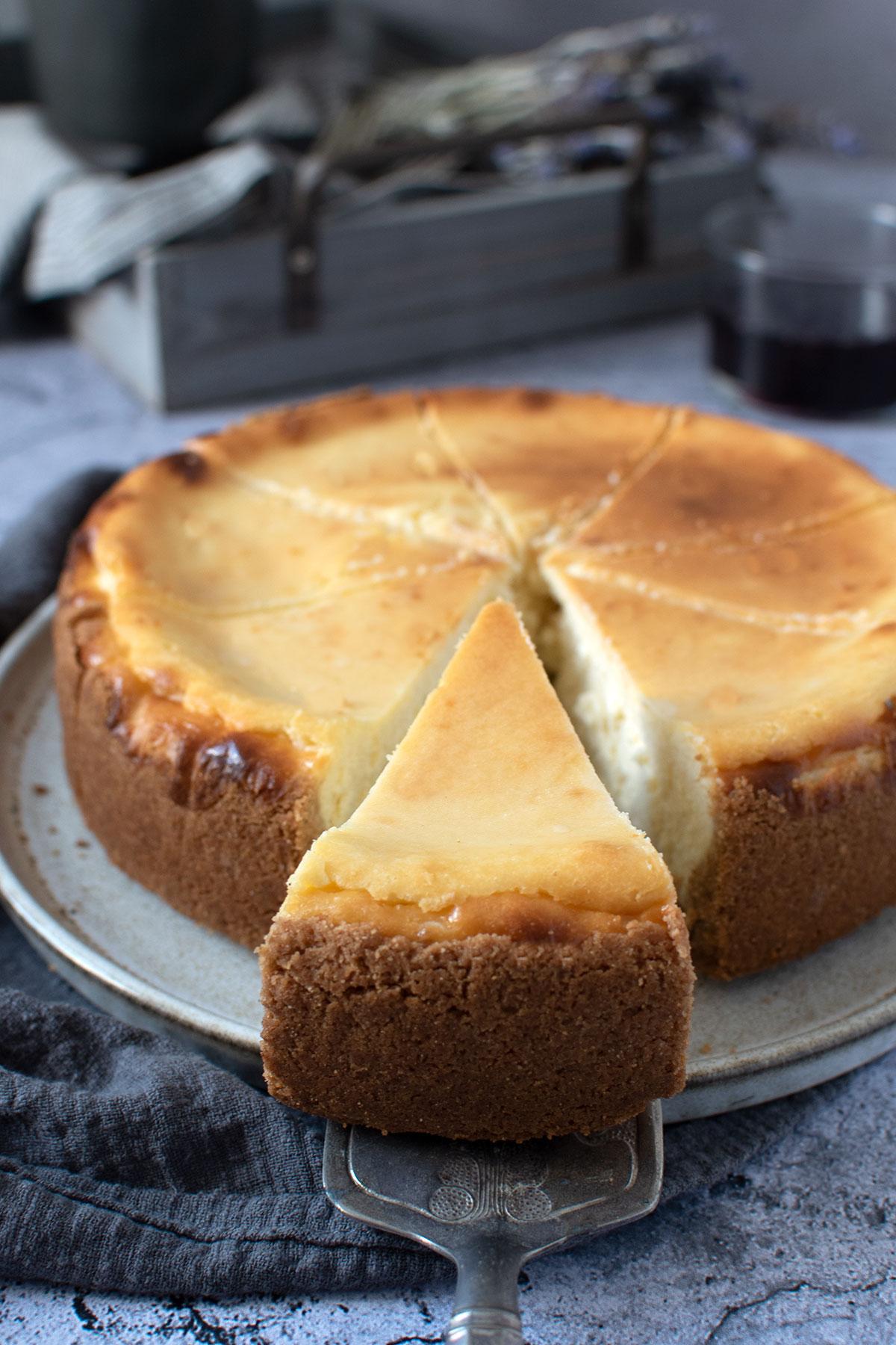 New York Cheesecake, αμερικάνικο cheesecake, cheesecake φούρνο, ψημένο