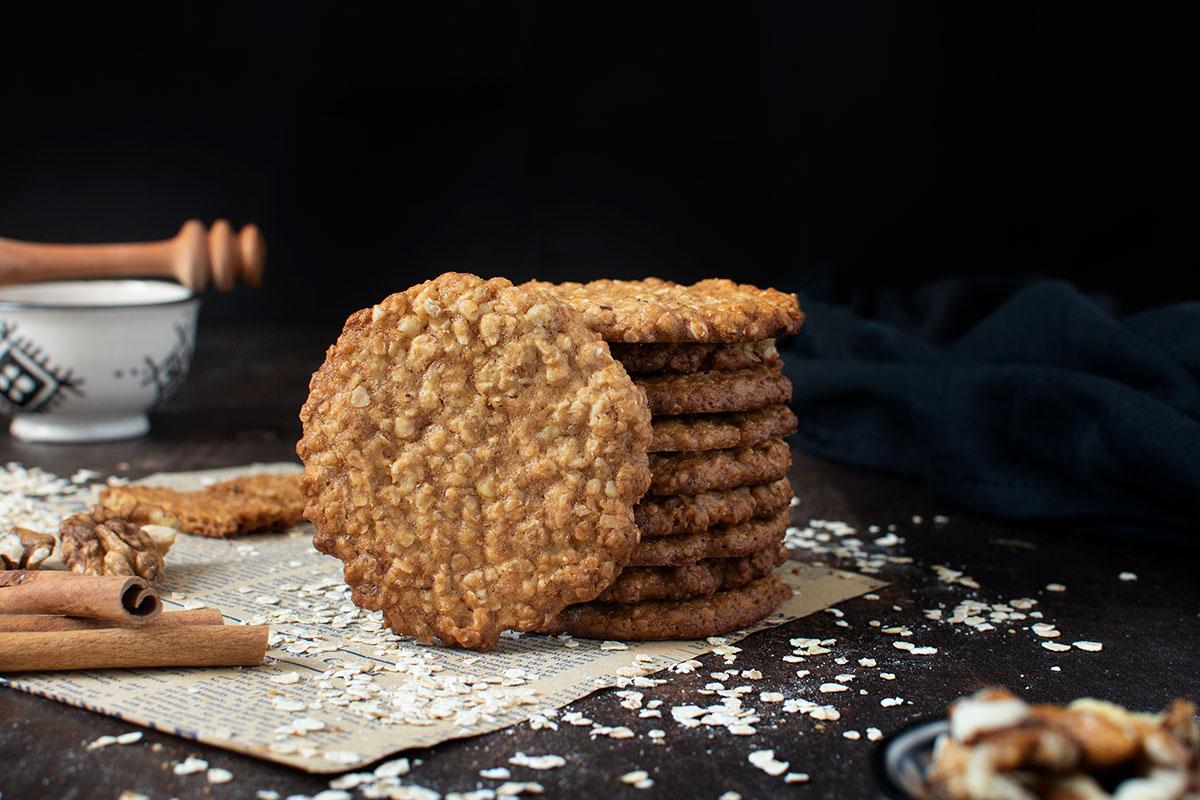 υγιεινά μπισκότα με βρώμη και μέλι
