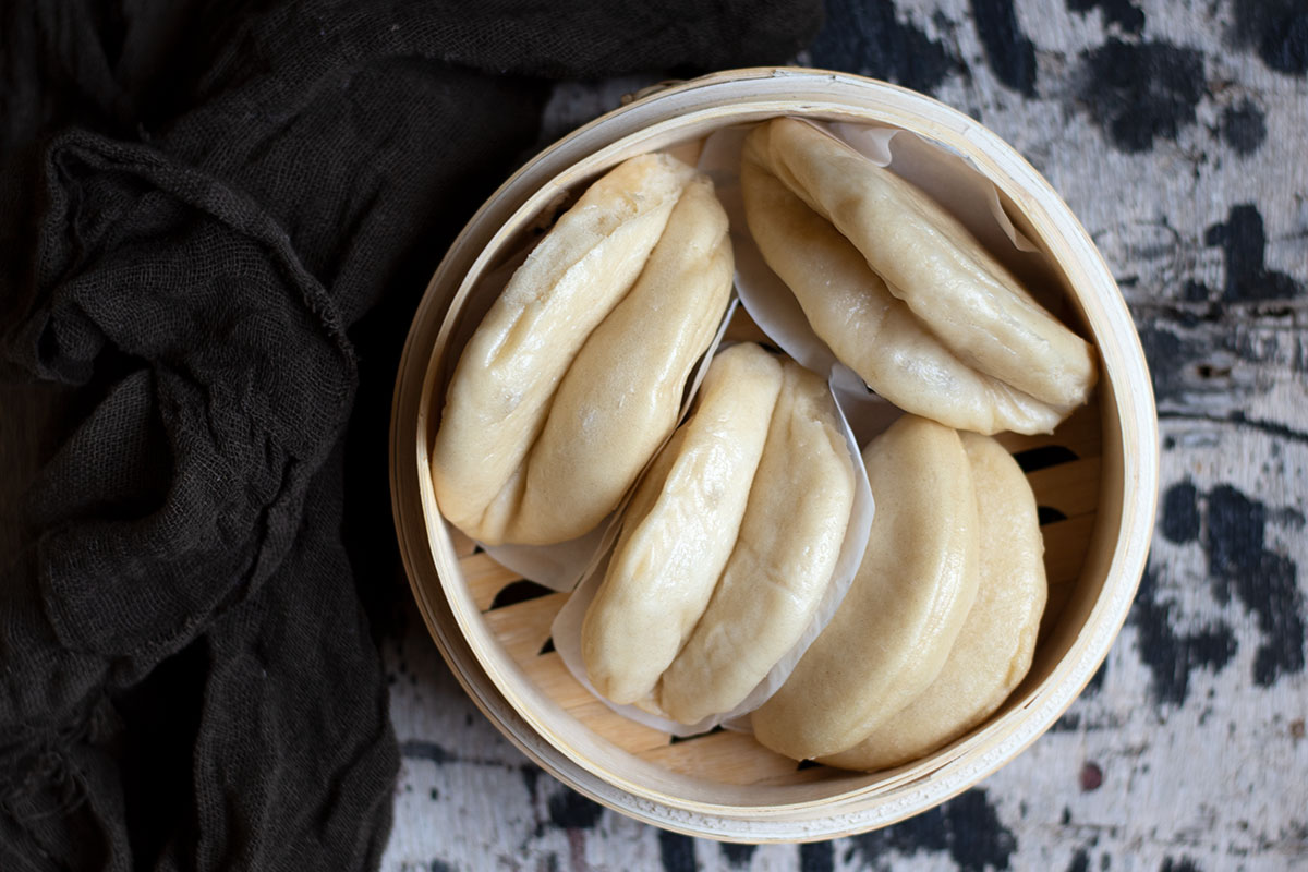 bao buns με χοιρινό
