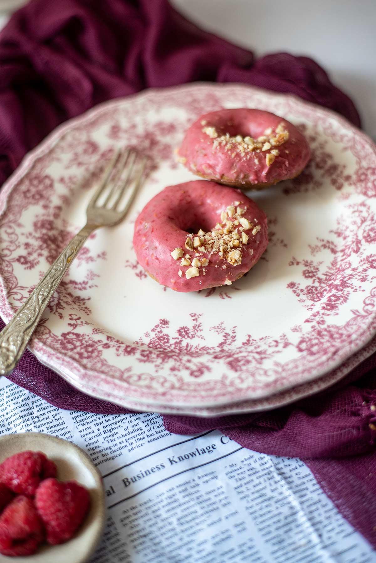 νηστίσιμα donuts, ντόνατς, φούρνο, ψητά, φουντούκι
