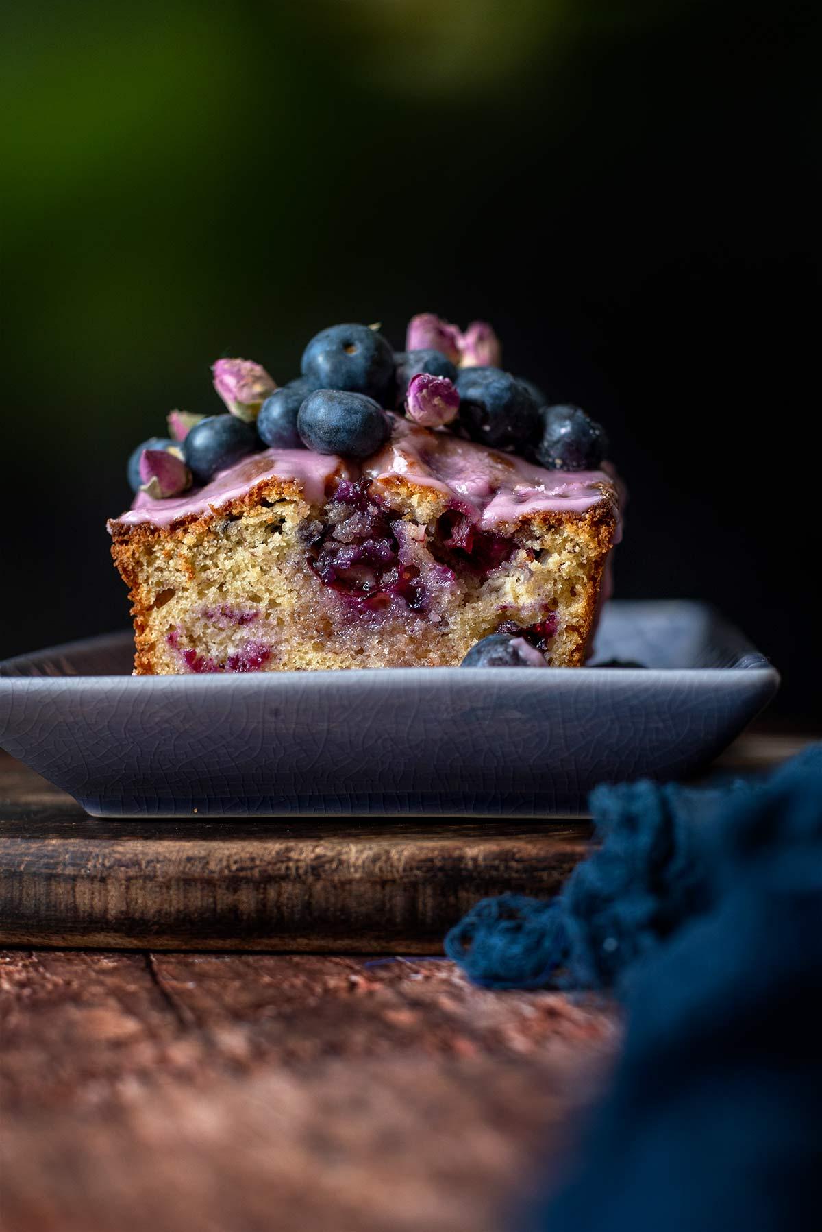 κέικ με μπανάνα και μύρτιλα, blueberries