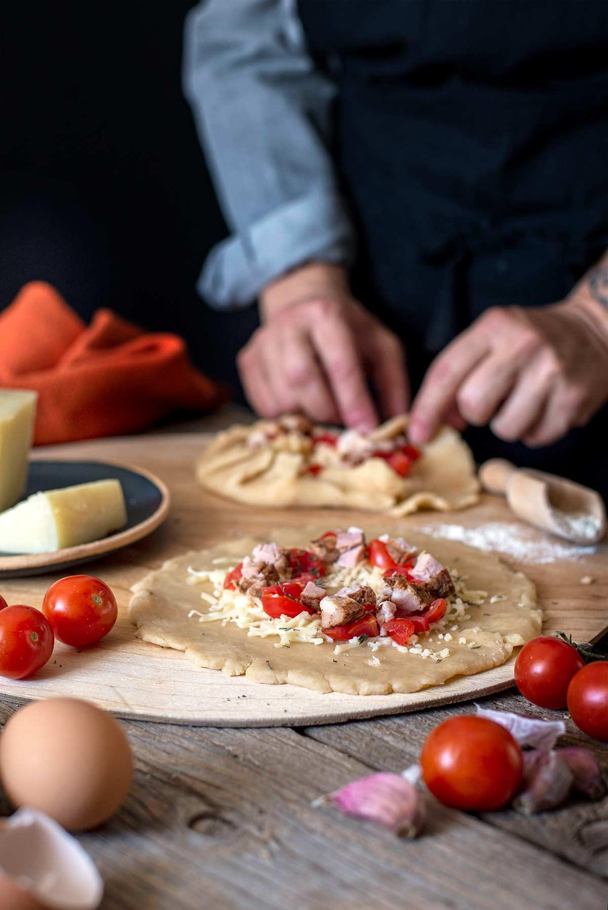 τάρτα με αβγό, αλμυρή, ταρτάκι τυρί