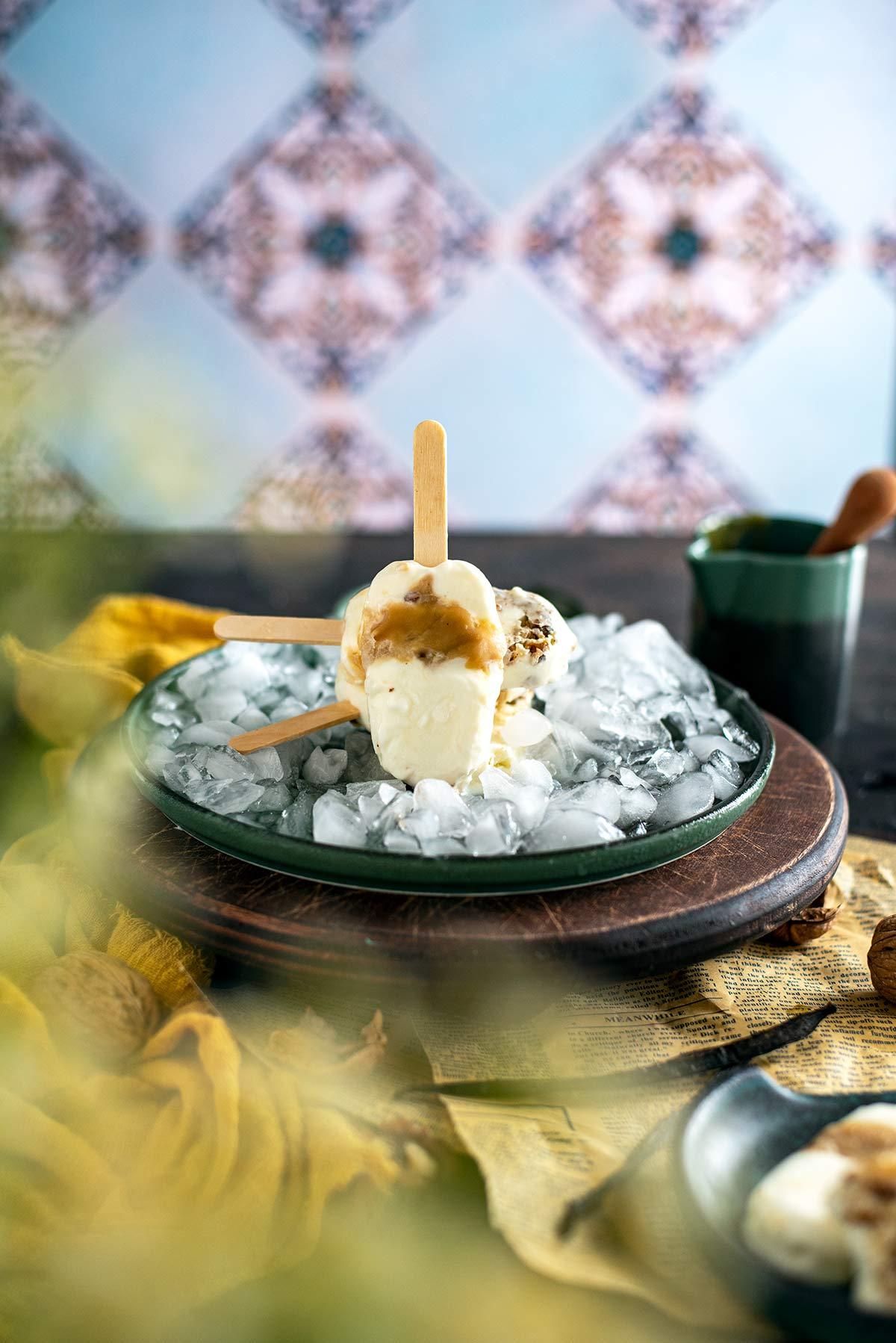 παγωτό, ξυλάκι, γιαούρτι, μέλι, συνταγή